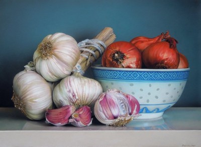 STILL LIFE WITH GARLIC & SHALLOTS