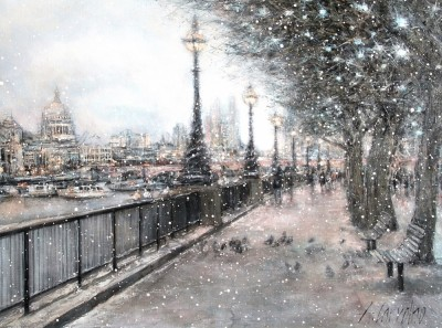 EVENING SNOWFALL SOUTH BANK
