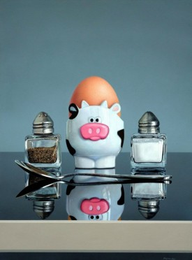 STILL LIFE WITH COW EGGCUP
