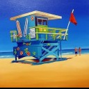 100TH STREET LIFE GUARD HUT SOUTH BEACH FLORIDA